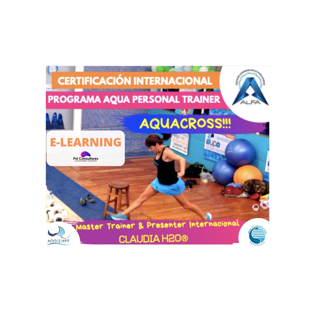 Certificación de Aquacross E-LEARNING-Programa Internacional de Aqua Personal Trainer