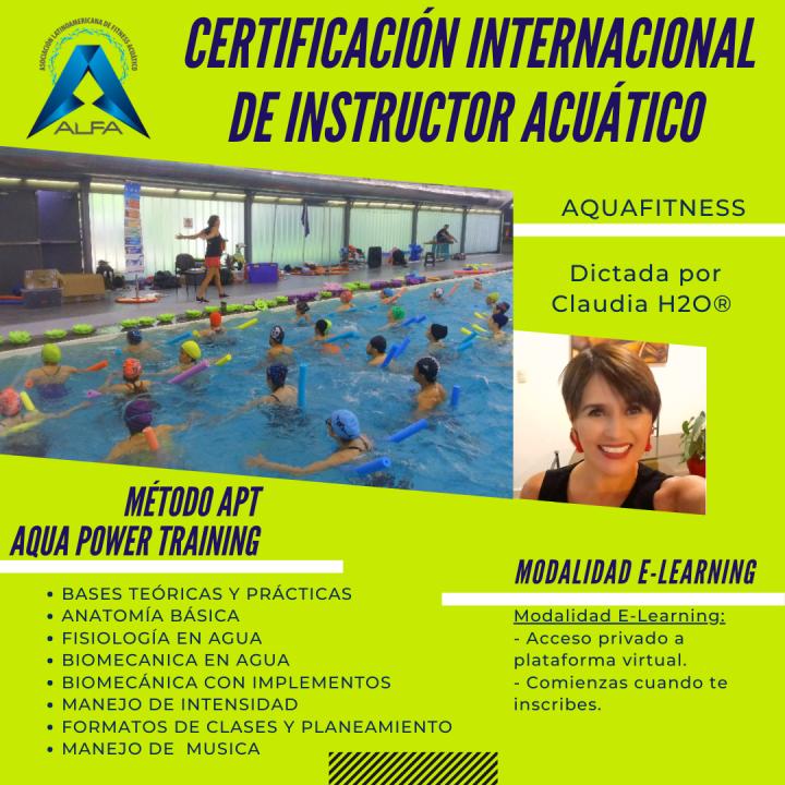 Mes 1-Certificación Internacional de Instructor de Aquafitness Método APT AquaPower Training